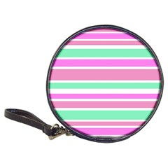 Pink Green Stripes Classic 20-CD Wallets