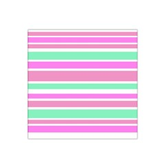 Pink Green Stripes Satin Bandana Scarf