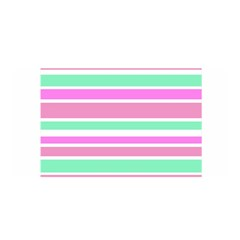 Pink Green Stripes Satin Wrap