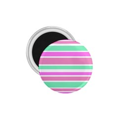 Pink Green Stripes 1.75  Magnets