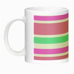 Pink Green Stripes Night Luminous Mugs