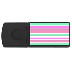 Pink Green Stripes USB Flash Drive Rectangular (4 GB)
