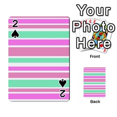 Pink Green Stripes Playing Cards 54 Designs