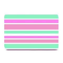 Pink Green Stripes Plate Mats