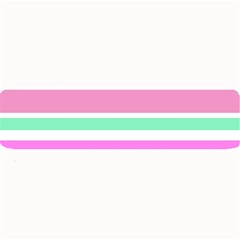 Pink Green Stripes Large Bar Mats