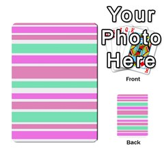 Pink Green Stripes Multi Purpose Cards (rectangle)  by BrightVibesDesign
