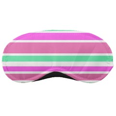 Pink Green Stripes Sleeping Masks