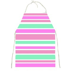 Pink Green Stripes Full Print Aprons