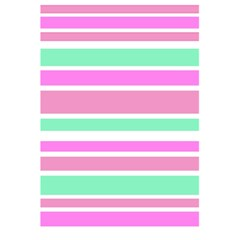 Pink Green Stripes 5.5  x 8.5  Notebooks