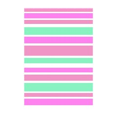 Pink Green Stripes Shower Curtain 48  x 72  (Small)