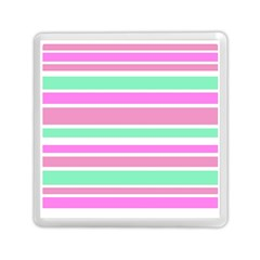Pink Green Stripes Memory Card Reader (Square)