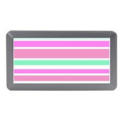 Pink Green Stripes Memory Card Reader (Mini)