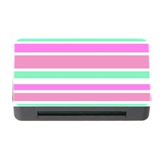 Pink Green Stripes Memory Card Reader with CF