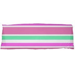Pink Green Stripes Body Pillow Case Dakimakura (two Sides) by BrightVibesDesign