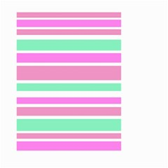 Pink Green Stripes Small Garden Flag (Two Sides)