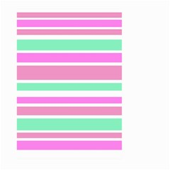 Pink Green Stripes Large Garden Flag (Two Sides)