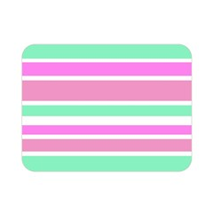 Pink Green Stripes Double Sided Flano Blanket (Mini)
