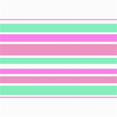Pink Green Stripes Collage Prints