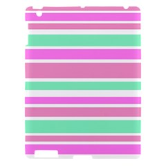 Pink Green Stripes Apple iPad 3/4 Hardshell Case