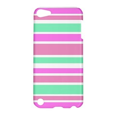 Pink Green Stripes Apple iPod Touch 5 Hardshell Case