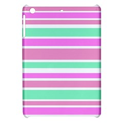 Pink Green Stripes Apple iPad Mini Hardshell Case