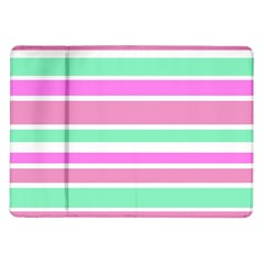 Pink Green Stripes Samsung Galaxy Tab 10.1  P7500 Flip Case