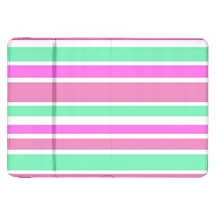 Pink Green Stripes Samsung Galaxy Tab 8.9  P7300 Flip Case
