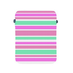 Pink Green Stripes Apple iPad 2/3/4 Protective Soft Cases