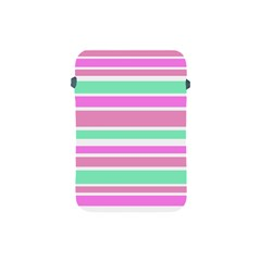 Pink Green Stripes Apple iPad Mini Protective Soft Cases