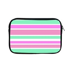 Pink Green Stripes Apple iPad Mini Zipper Cases