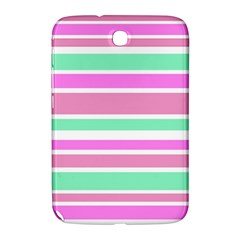 Pink Green Stripes Samsung Galaxy Note 8 0 N5100 Hardshell Case  by BrightVibesDesign
