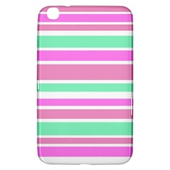 Pink Green Stripes Samsung Galaxy Tab 3 (8 ) T3100 Hardshell Case