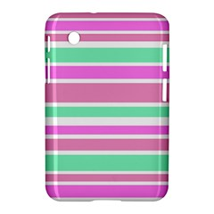 Pink Green Stripes Samsung Galaxy Tab 2 (7 ) P3100 Hardshell Case