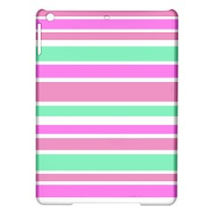 Pink Green Stripes iPad Air Hardshell Cases