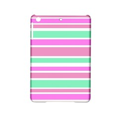 Pink Green Stripes iPad Mini 2 Hardshell Cases