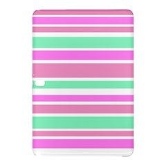 Pink Green Stripes Samsung Galaxy Tab Pro 10 1 Hardshell Case by BrightVibesDesign