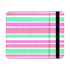 Pink Green Stripes Samsung Galaxy Tab Pro 8 4  Flip Case by BrightVibesDesign
