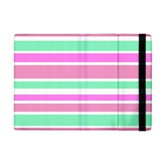Pink Green Stripes iPad Mini 2 Flip Cases