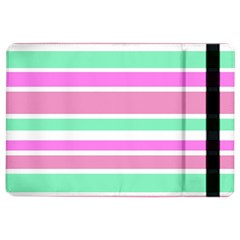 Pink Green Stripes iPad Air 2 Flip