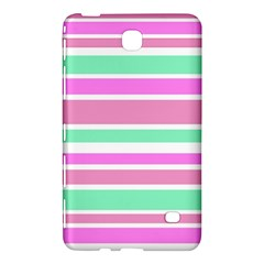 Pink Green Stripes Samsung Galaxy Tab 4 (8 ) Hardshell Case