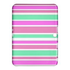 Pink Green Stripes Samsung Galaxy Tab 4 (10.1 ) Hardshell Case