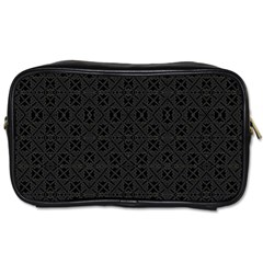 Black Perfect Stitch Toiletries Bags 2 Side by MRTACPANS