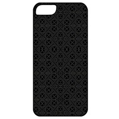 Black Perfect Stitch Apple Iphone 5 Classic Hardshell Case by MRTACPANS