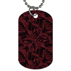 Sharp Tribal Pattern Dog Tag (one Side) by dflcprints