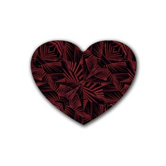 Sharp Tribal Pattern Heart Coaster (4 Pack)  by dflcprints
