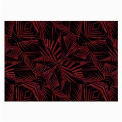 Sharp Tribal Pattern Large Glasses Cloth (2 Side) by dflcprints