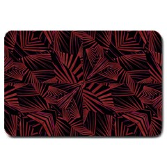 Sharp Tribal Pattern Large Doormat  by dflcprints