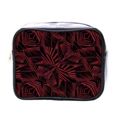 Sharp Tribal Pattern Mini Toiletries Bags by dflcprints
