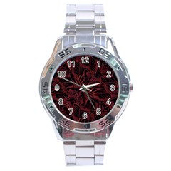 Sharp Tribal Pattern Stainless Steel Analogue Watch by dflcprints