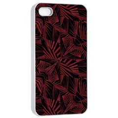 Sharp Tribal Pattern Apple Iphone 4/4s Seamless Case (white) by dflcprints